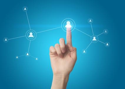 29-finger-pressing-a-social-network