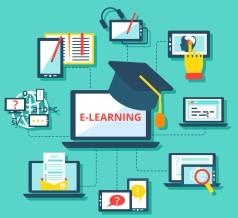 E-learning icons flat