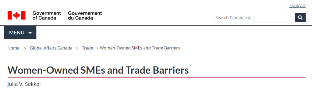 Women-Owned SMEs and Trade Barriers